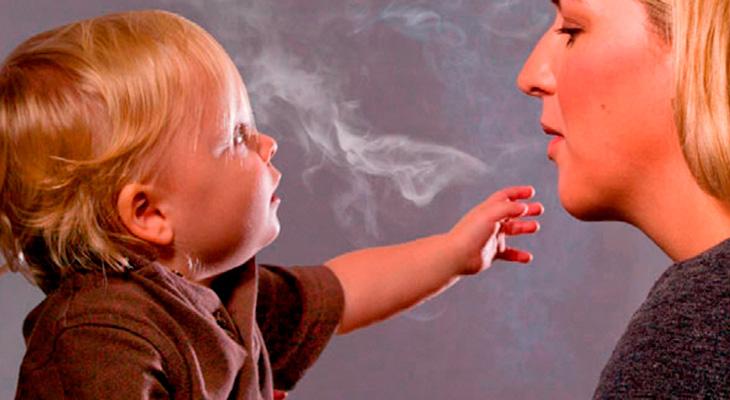 Пасивное курени детей