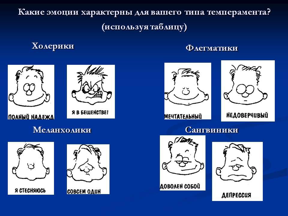 Как определить типы темперамента