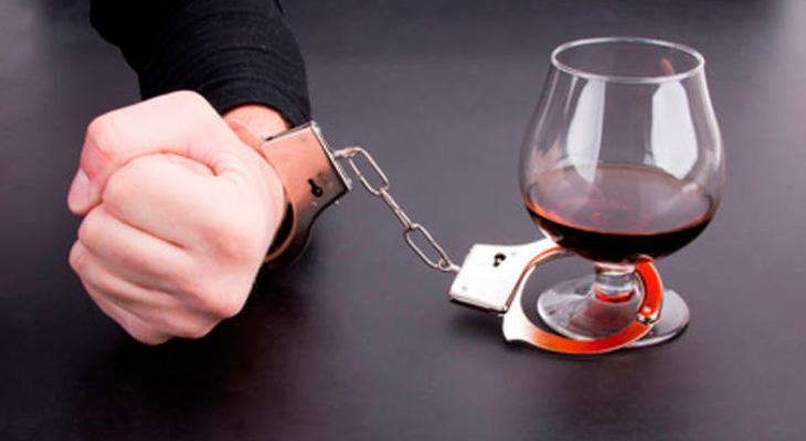 Зависимость от бокала со спиртным