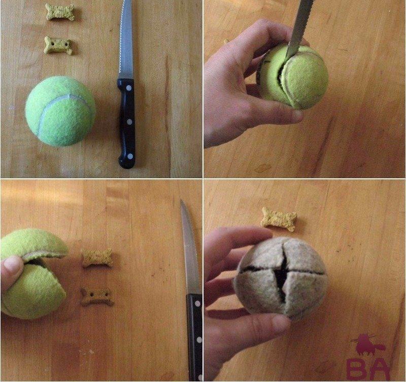 Теннисный мячик с угощением