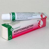 Мазь Кортомицетин: инструкция по применению