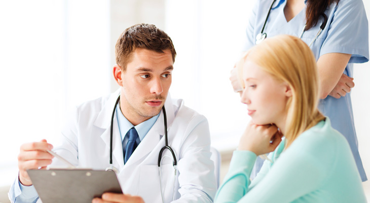 Пациент с врачем