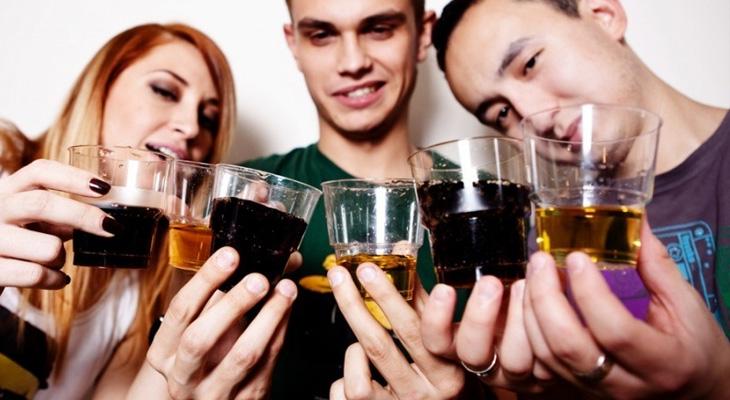 Выпивка с друзьями