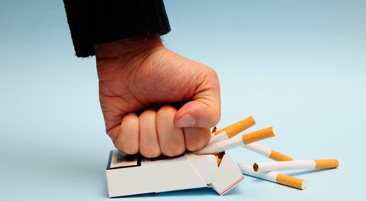 Давить пачку сигарет