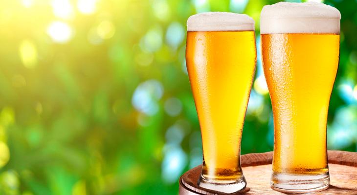 Бокалы безалкогольного пива