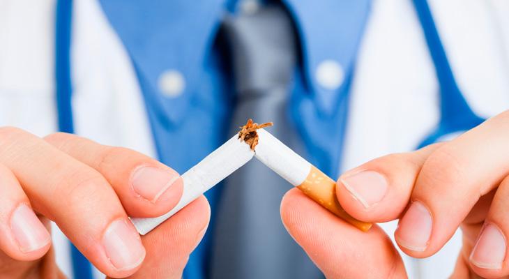 Доктор сломал сигарету
