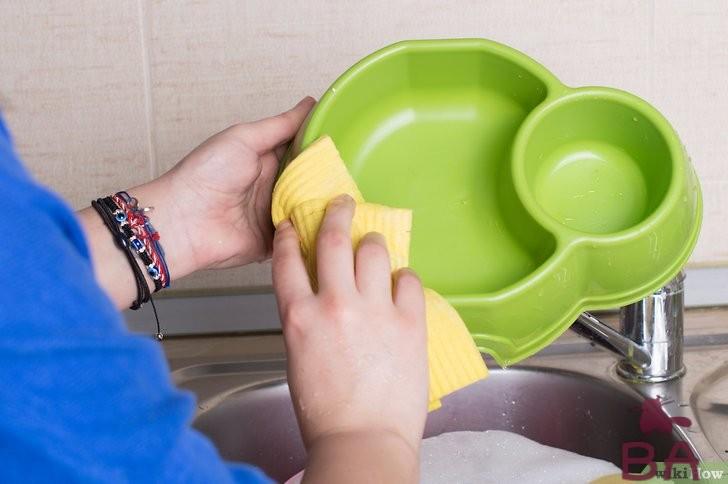 мыть миску кошке